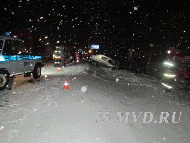 В лобовом ДТП на трассе «Тюмень – Омск» погибли три человека #Происшествия #Омск