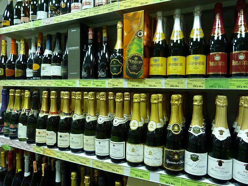 В России в 2015 году сократилось потребление алкогольных напитков