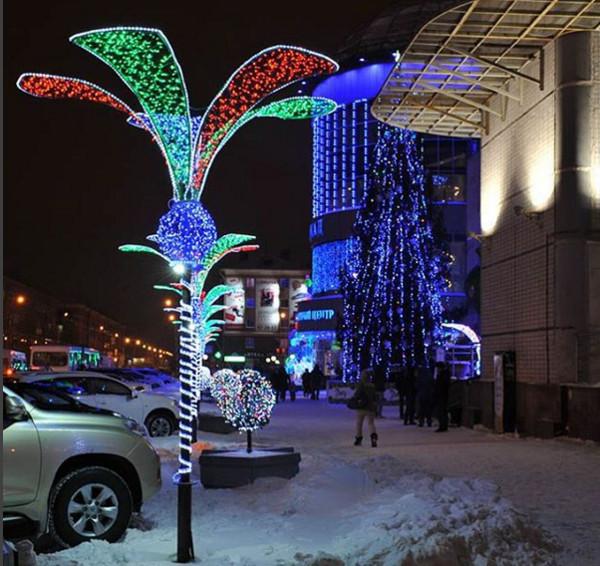 Омск украшения к новому году