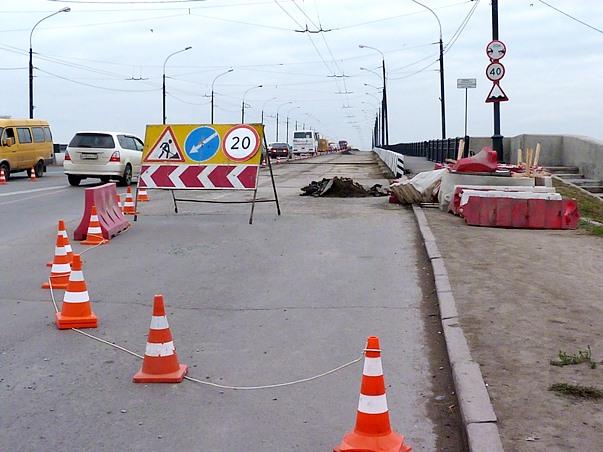 ВОмске наЛенинградском мосту произошла серия ДТП