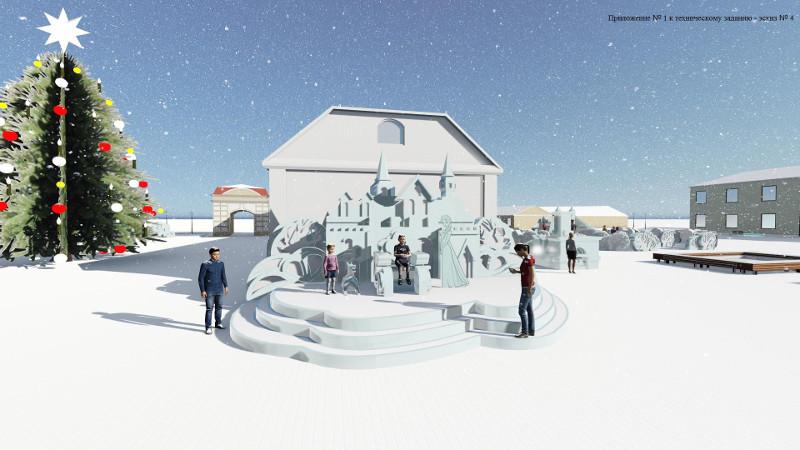 Вцентре города появится замок Снежной королевы ичетырёхметровая надпись «Омск»