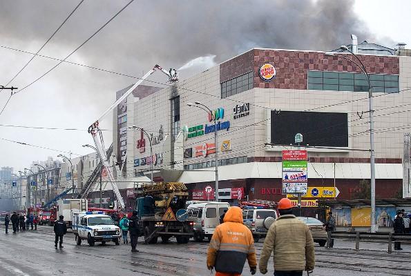 Одиннадцать человек госпитализировали врезультате пожара вКемерове