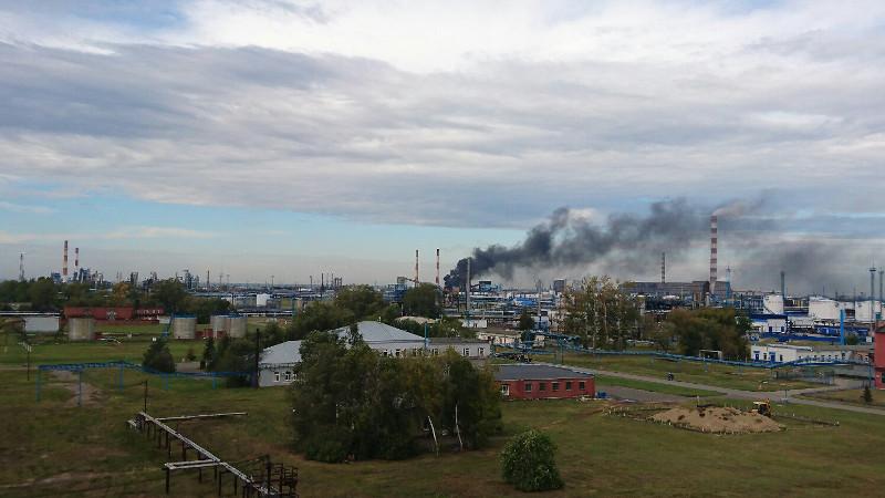 НаОмском НПЗ произошел пожар