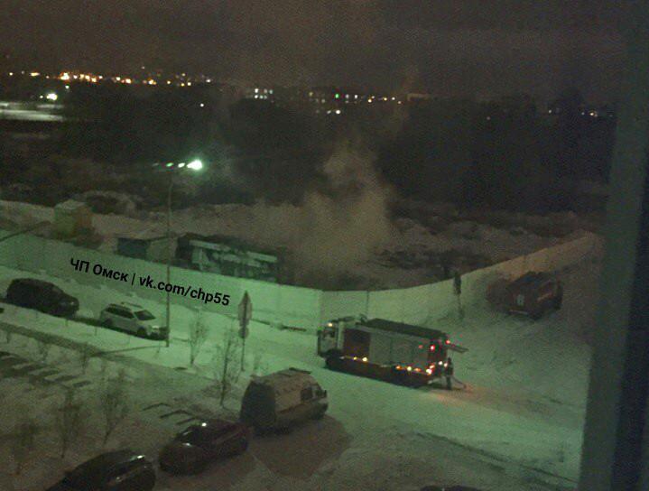 Вэлитном омском микрорайоне «Старгород» случился пожар