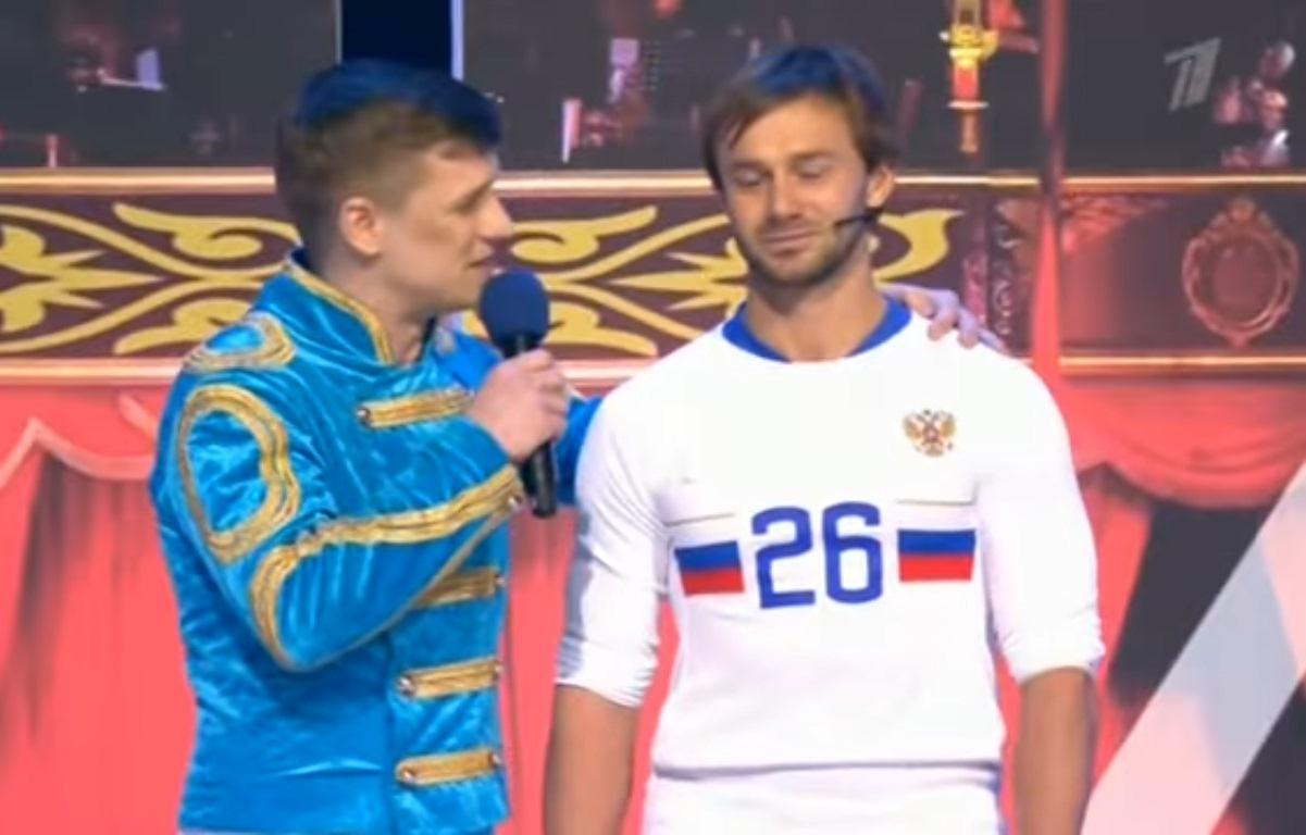 Кавээнщики приделали омскому футболисту Дмитрию Сычеву ноги Криштиану Роналду