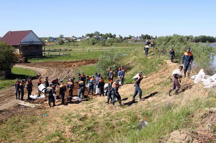 Паводок отступил отЧерлакского района иОмска