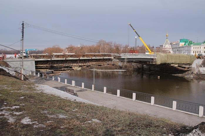 Работы наЮбилейном мосту вОмске выполнены на70%