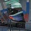 В центре Омска при ДТП иномарка снесла забор магазина и сбила пешехода